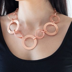 Ringed in Randiance penny copper necklace